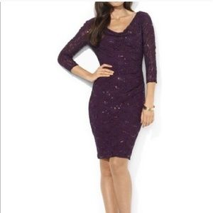 🔥THURSDAY SALE  PLUM LACE AND SEQUINED DRESS